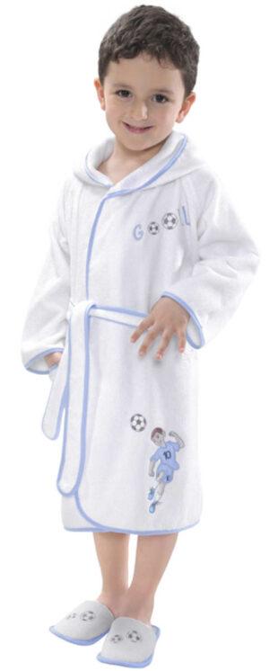 Terry baba fürdőköpeny focista