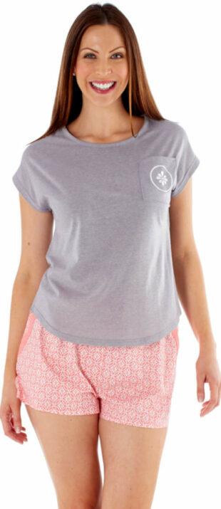 Kényelmes Fordville nyári pizsama rövid ujjú pólóval