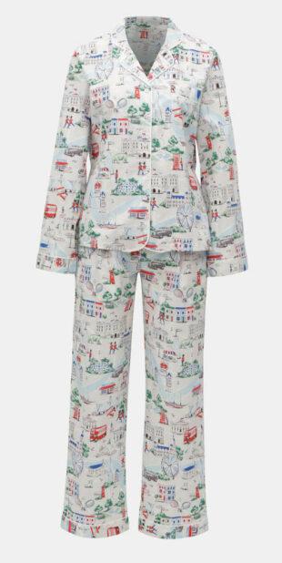Klasszikus női nadrágos pizsama gombokkal