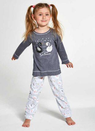 Gyermek minőségi pamut pizsama hattyú képpel